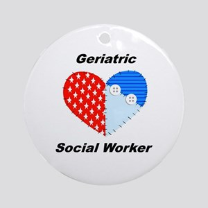 Geriatric Social Worker Ornament (Round)