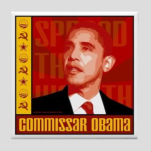 Commissar Obama Tile Coaster