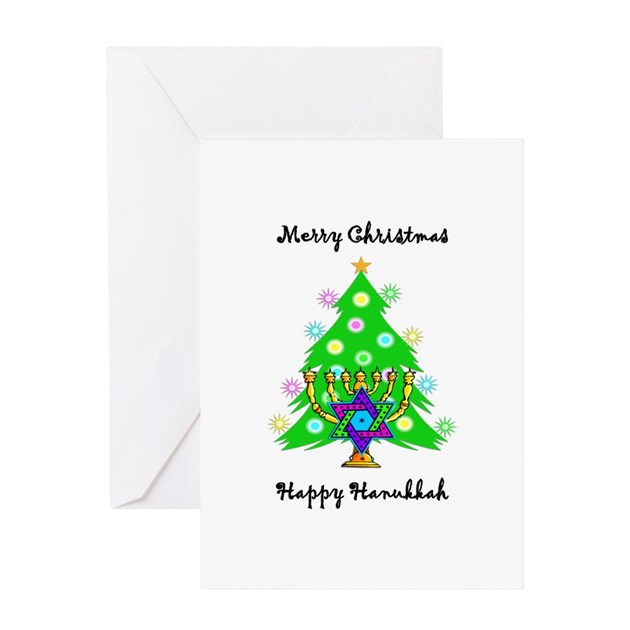 Hanukkah And Christmas Interfaith Greeting Card By