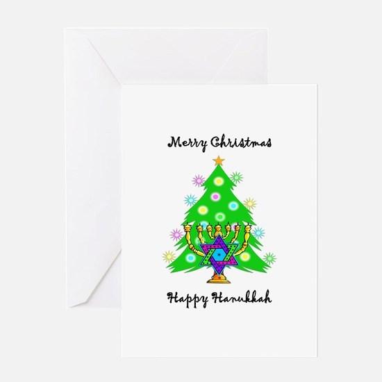 Hanukkah and Christmas Interfaith Greeting Card