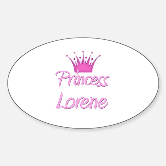 Princess Lorene Oval Decal