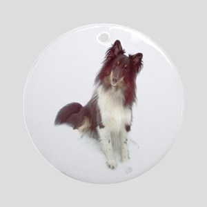 Tri-Color Sheltie Ornament (Round)
