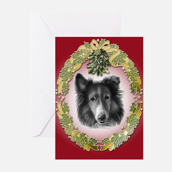 Rough Collie Christmas Greeting Cards (Pk of 20)