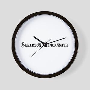 Skeleton Blacksmith Wall Clock