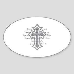 1 corinthians love is patient Oval Sticker