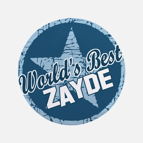 "Worlds Best Zayde 3.5"" Button"