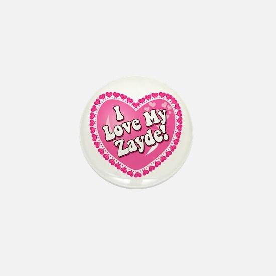 I Love My Zayde Mini Button