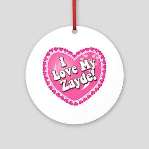 I Love My Zayde Ornament (Round)