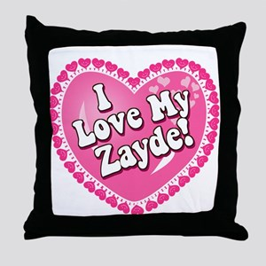 I Love My Zayde Throw Pillow