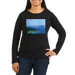 Caribbean Islands Women's Long Sleeve Dark T-Shirt