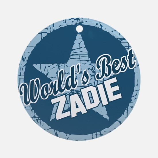 World's Best Zadie Ornament (Round)