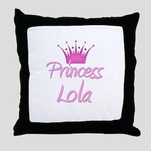 Princess Lola Throw Pillow