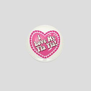 I Love My Yia Yia Mini Button