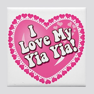 I Love My Yia Yia Tile Coaster