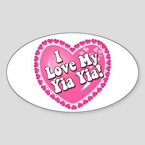 I Love My Yia Yia Oval Sticker