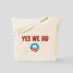 Yes We Did symbol Tote Bag