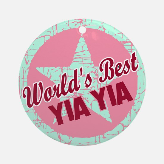 The World's Best Yia Yia Ornament (Round)