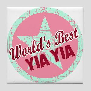 The World's Best Yia Yia Tile Coaster