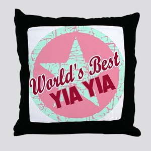 The World's Best Yia Yia Throw Pillow