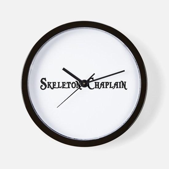 Skeleton Chaplain Wall Clock