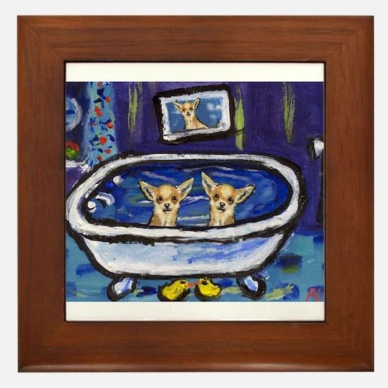 CHIHUAHUA bath Framed Tile