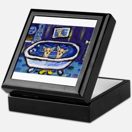 CHIHUAHUA bath Keepsake Box
