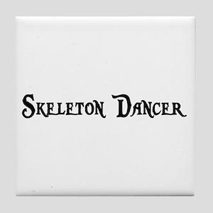 Skeleton Dancer Tile Coaster