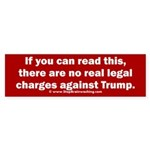 If You Can Read This, Trump Bumper Sticker