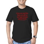 If you can read this, Men's Fitted T-Shirt (dark)