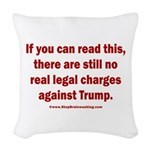 If you can read this, Trump Woven Throw Pillow