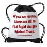 If you can read this, Trump Drawstring Bag