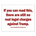 If you can read this, Trump Small Poster