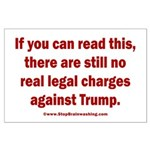 If you can read this, Trump Large Poster
