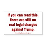 If you can read this, Trump Rectangle Car Magnet