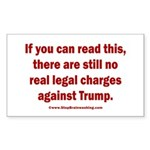 If you can read this, Trump Sticker (Rectangle)