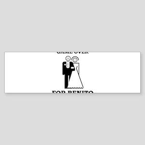 Game over for Benito Bumper Sticker