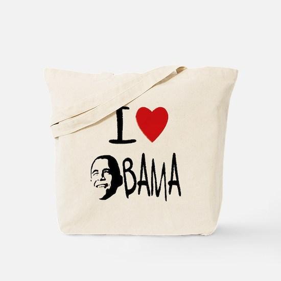 Cute I heart obama Tote Bag
