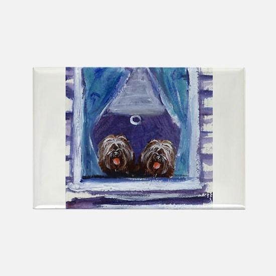 TIBETAN TERRIER window Rectangle Magnet (10 pack)