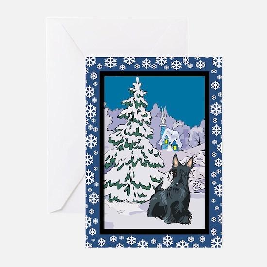 Winter Wonderland Scottie Greeting Cards (Pk of 20