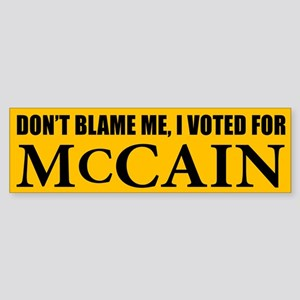I Voted for McCain Bumper Sticker