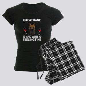 Great Dane and Wine felling Fine Dog Lover Pajamas