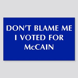 Don't Blame Me I Voted For Mc Rectangle Sticker