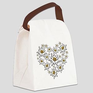 I (heart) edelweiss Canvas Lunch Bag