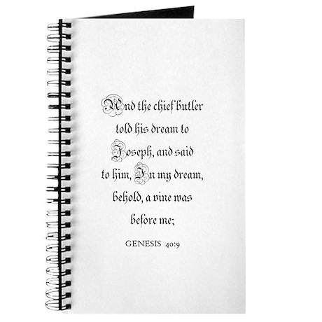 GENESIS 40:9 Journal