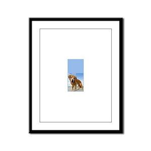 BEACH DOG Framed Panel Print