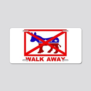 Walk Away Aluminum License Plate