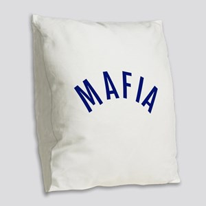 Mafia Burlap Throw Pillow
