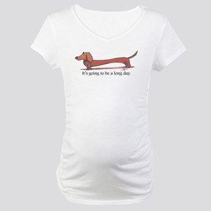 Long Day Dachshund Maternity T-Shirt