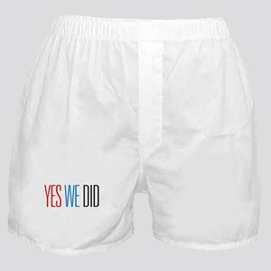 Obama Yes We Did Boxer Shorts