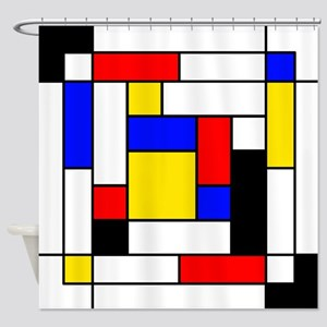 Mondrian Geometric Art 2 Shower Curtain